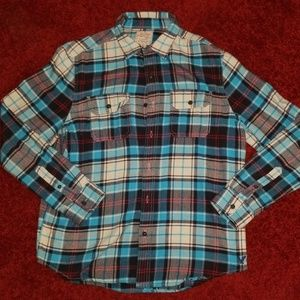 AEO Heritage Classic Fit Plaid Flannel Women's XL